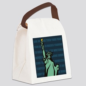 Words of Liberty Canvas Lunch Bag