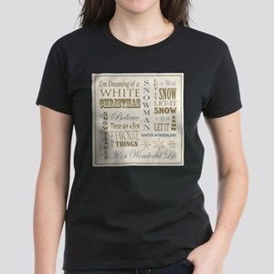 Vintage christmas word collage T-Shirt