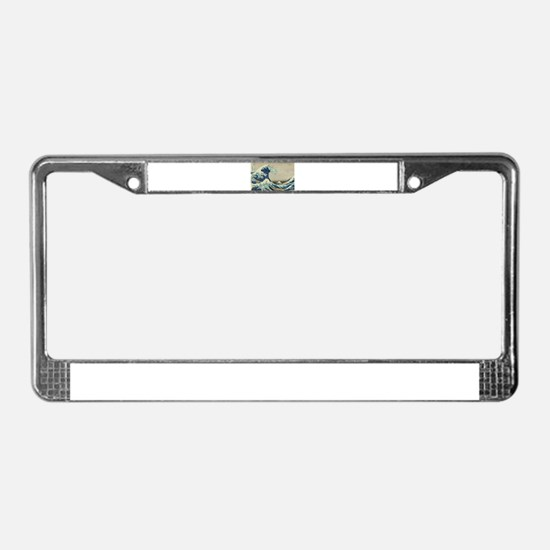 Great Wave by Hokusai License Plate Frame