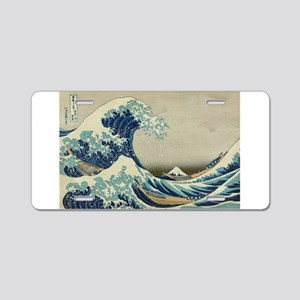 Great Wave by Hokusai Aluminum License Plate