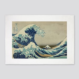 Great Wave by Hokusai 5'x7'Area Rug