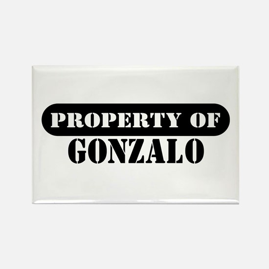 Property of Gonzalo Rectangle Magnet