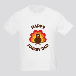 Happy Turkey Day! Kids Light T-Shirt