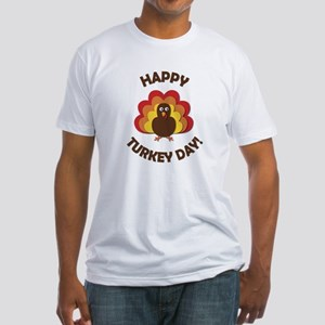 Happy Turkey Day! Fitted T-Shirt