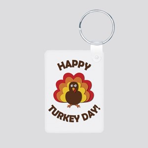 Happy Turkey Day! Aluminum Photo Keychain