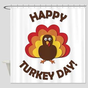 Happy Turkey Day! Shower Curtain