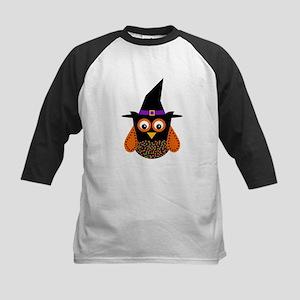 Adorable Halloween Owl Baseball Jersey