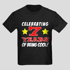 Celebrating 7 Year Old Birthday T-Shirt