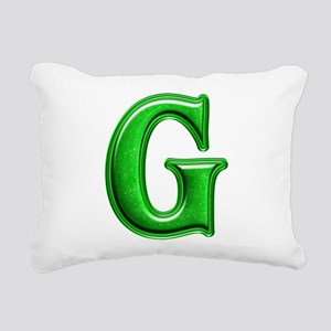 G Shiny Colors Rectangular Canvas Pillow