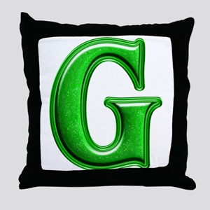 G Shiny Colors Throw Pillow