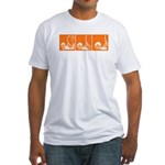 Orange Thrust Sequence Fitted T-shirt