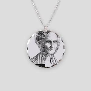 Lucretia Coffin Mott Necklace Circle Charm