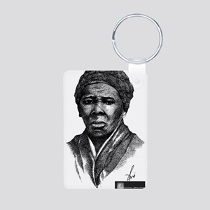 Tubman with Logo2 Aluminum Photo Keychain