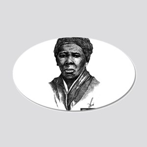 Tubman with Logo2 20x12 Oval Wall Decal