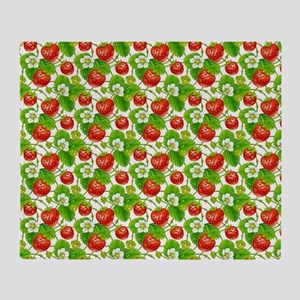 Strawberry Pattern Throw Blanket