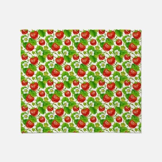 Strawberry Pattern Throw Blanket