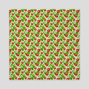 Strawberry Pattern Queen Duvet