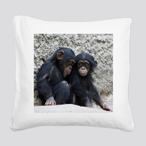 Chimpanzee002 Square Canvas Pillow