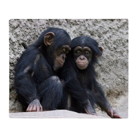 Chimpanzee002 Throw Blanket