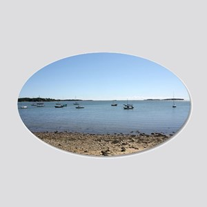 Cape Cod Waterscape With Sailbaots Wall Decal