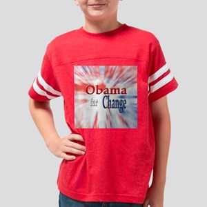 Obama for Change Youth Football Shirt