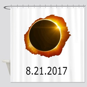 total eclipse Shower Curtain