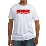 Red Thrust Sequence Fitted T-shirt