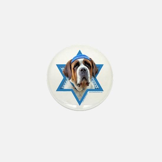 Hanukkah Star of David - St Bernard Mini Button