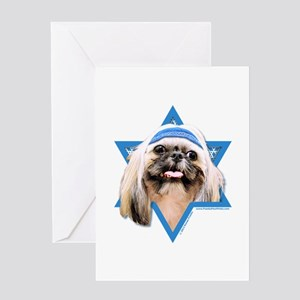 Hanukkah Star of David - Shih Tzu Greeting Card