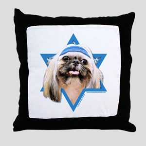 Hanukkah Star of David - Shih Tzu Throw Pillow
