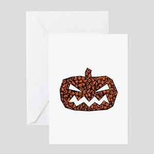 Angry Pumpkin Greeting Cards