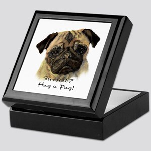 Stressed? Hug a Pug! Fun Dog Pet Quote Keepsake Bo