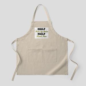 Half Make Up Artist Half Rock Star Apron