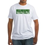 Green Sequence Fitted T-shirt