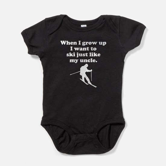 Ski Like My Uncle Baby Bodysuit