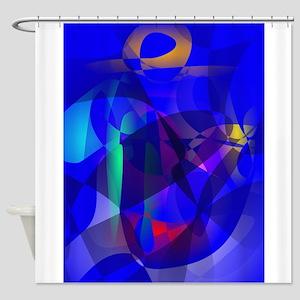 Full Moon Art Shower Curtain