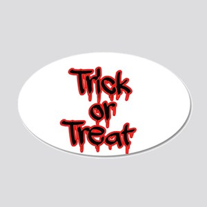 Bloody Trick or Treat Wall Decal
