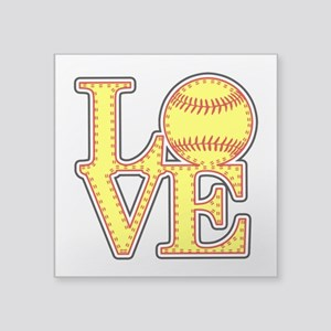 Love Softball Stitches Sticker