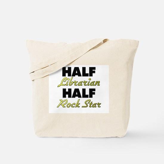 Half Librarian Half Rock Star Tote Bag