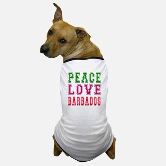 Peace Love Barbados Dog T-Shirt