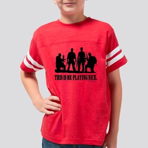 playingnice-black Youth Football Shirt
