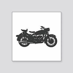 """Vintage Motorcycle Square Sticker 3"""" x 3"""""""