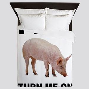 PIG FAN Queen Duvet