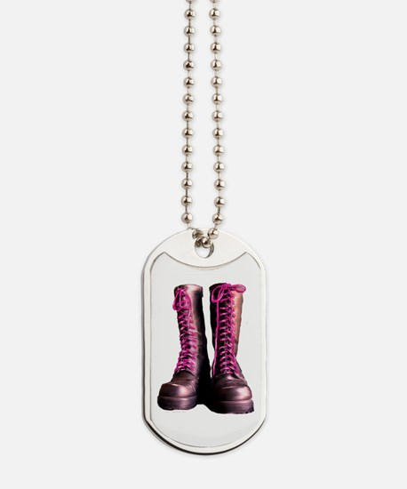Pink Laces Dog Tags