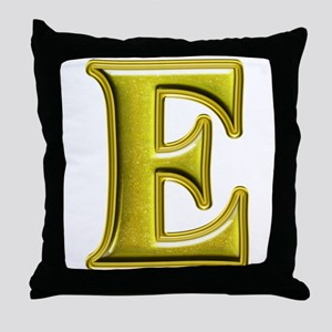 E Shiny Colors Throw Pillow
