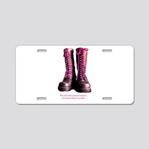 Pink Steps Aluminum License Plate