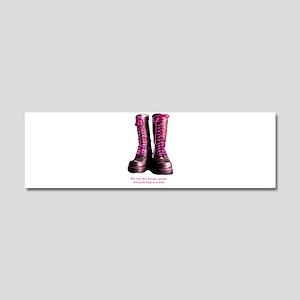 Pink Steps Car Magnet 10 x 3