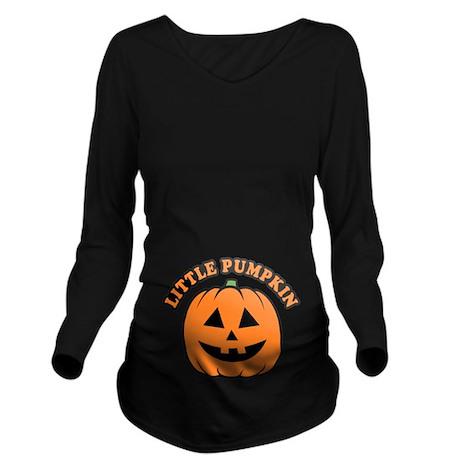 Little Pumpkin Long Sleeve Maternity T-Shirt