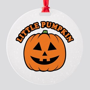 Little Pumpkin Round Ornament