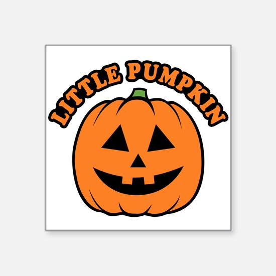 "Little Pumpkin Square Sticker 3"" x 3"""
